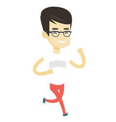 Young man running vector