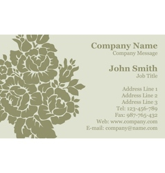 Victorian rose Damask Business Card vector image