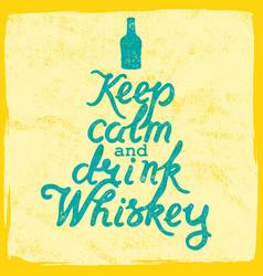 whiskey lettering art vector image