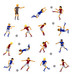 Soccer players and referee vector
