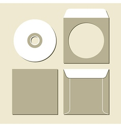 Blank white compact disc vector image