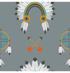 Indian flat pattern vector