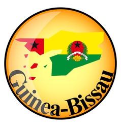 button Guinea Bissau vector image