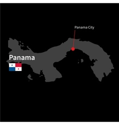 Detailed map of panama and capital city panama vector