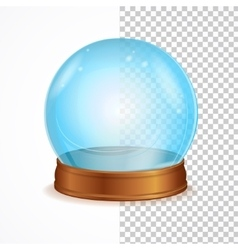 Empty blue crystal ball vector