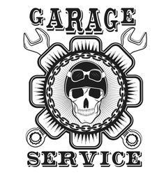 Garage label auto service vector
