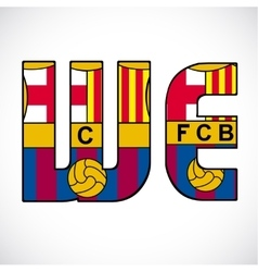 Word we with barcelonas logo vector