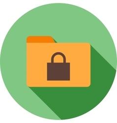 Secure folder vector