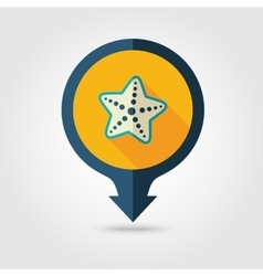 Starfish pin map flat icon summer vacation vector