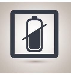 Battery level icon design vector