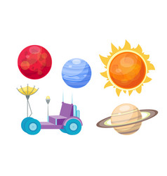 astronomy space cartoon set vector image vector image