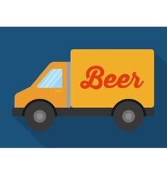 Beer truck and delivery design vector