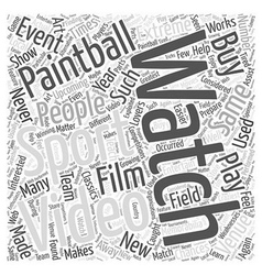 Bwpb choosing paintball videos word cloud concept vector