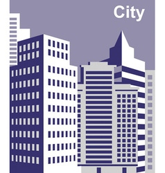 City tall buildings vector