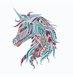Colorful unicorn vector