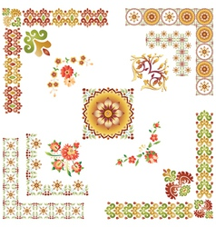Design Elements Colorful vector image vector image