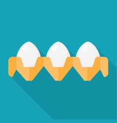 Eggs flat icon vector