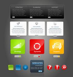 Elements web design vector