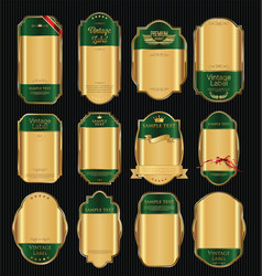 empty vintage golden frame background collection 6 vector image