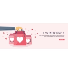 Flat background with shopping vector image