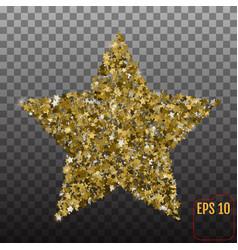 golden star banner on transparent background gold vector image