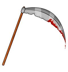 Halloween Scythe with Blood vector image