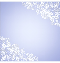 lace fabric white frame vector image