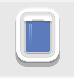 Plastic open plane window vector