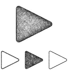 Play icon set - sketch line art vector image vector image