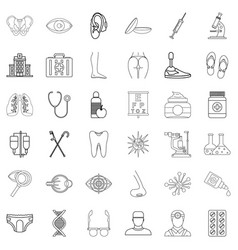 Prosperity icons set outline style vector