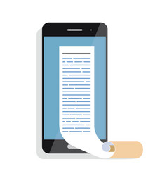 reading online articles and news on mobile phone vector image vector image