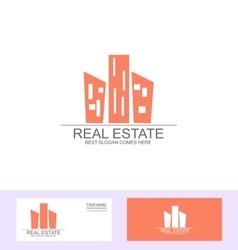 Real estate flat logo vector