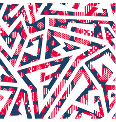 red color geometric seamless pattern vector image