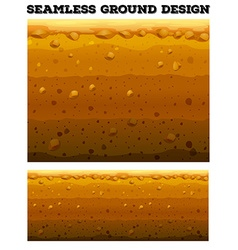 Seamless underground scene design vector image
