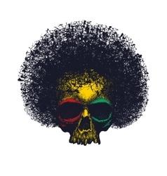 Skull reggae tee graphic design vector