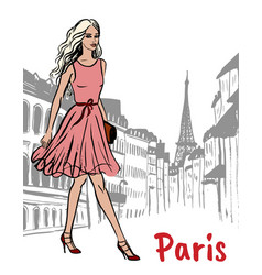 street of paris vector image vector image
