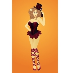 The girl from the circus vector
