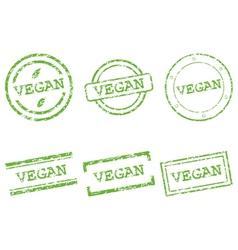 Vegan stamps vector