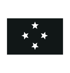 Micronesia flag monochrome on white background vector