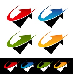 Swoosh arrow logo icons vector