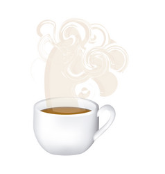Image color with hot cup of tea and fresh smelling vector