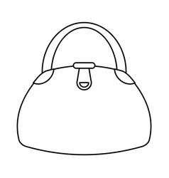 woman handbag fashion style thin line vector image