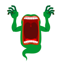 Mysterious phantom angry hungry spirit scary vector