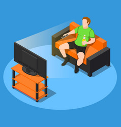 watch some tv composition vector image