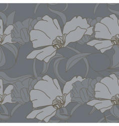 Seamless wallpaper with poppy flowers vector