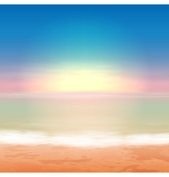 Beautiful sea sunset vector