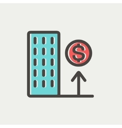Good location high price thin line icon vector