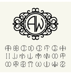 Set to create monograms vector