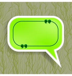 Green paper speech bubble vector
