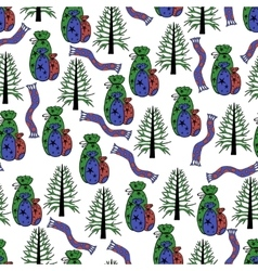 Christmas seamles background vector image
